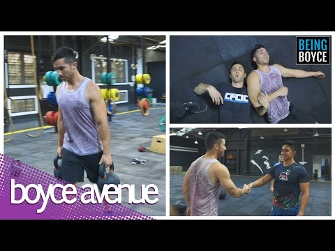 Boyce Avenue's First Time Crossfit Training #BeingBoyce