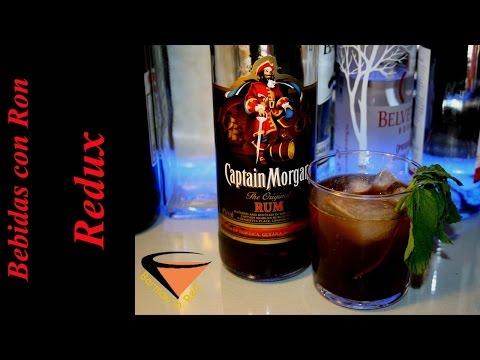 cómo preparar un cóctel Captain Morgan Redux