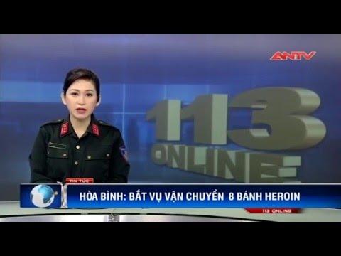 CSGT Hòa Bình vừa  bắt vụ vận chuyển 8 bánh heroin