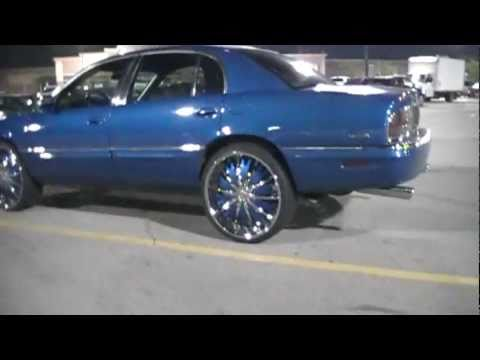 Buick Park Avenue On 24 S Blue Candy Paint Youtube