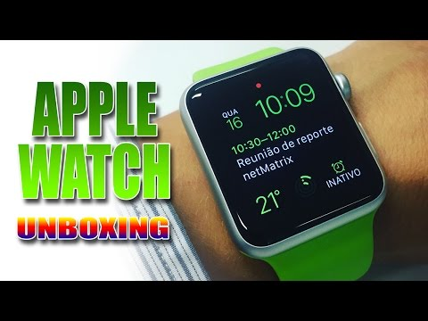 Apple Watch Sport 42mm + Bracelete extra - Unboxing ((PT))