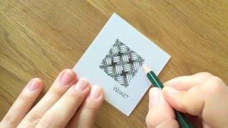 Zentangle® Muster: Wisket