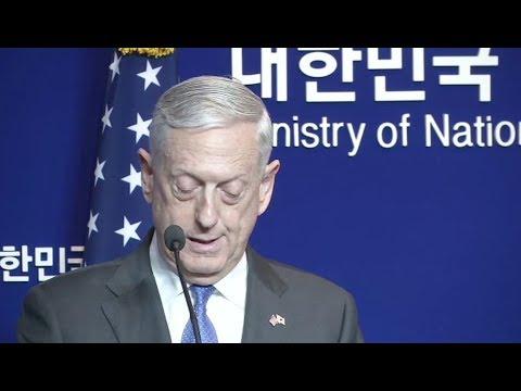 Mattis In Seoul, South Korea-Full News Conference