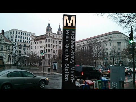 Archives Metro Station - Washington DC Metro Green/Yellow lines