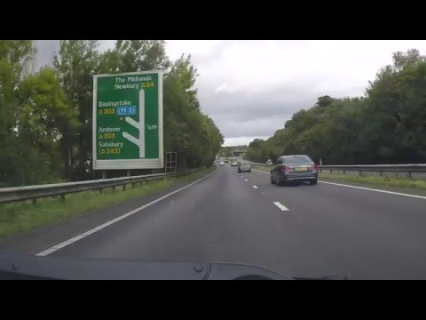 UK Motorways - A34 North A303 junction