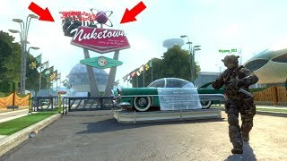 ALL OF THEM WERE HIDING OUTSIDE OF THE MAP BEHIND THE NUKETOWN SIGN???? HIDE N' SEEK ON BLACK OPS 2