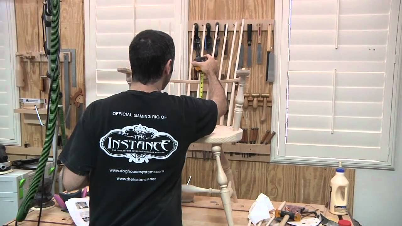 137 - River Bend Windsor Chair Kit - YouTube