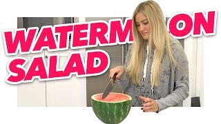 A real questionable watermelon salad