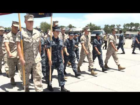 Marines March with Navy