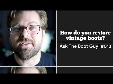 ASK THE BOOT GUY | #013 | How do you restore vintage boots?| Redwing boots and Steve McQueen