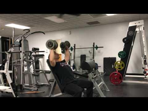 High Incline Dumbbell Shoulder Press