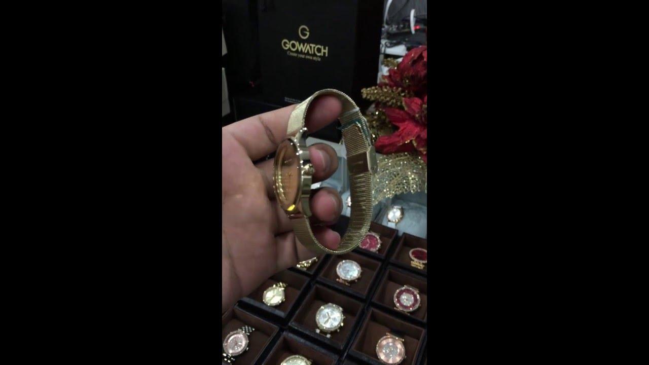 bcfac6d92929 MICHAEL KORS Kinley Gold Tone Dial Ladies Dress Watch MK6295 - YouTube