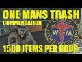 The Division One Mans Trash Commendation - 1500 Items p/hour