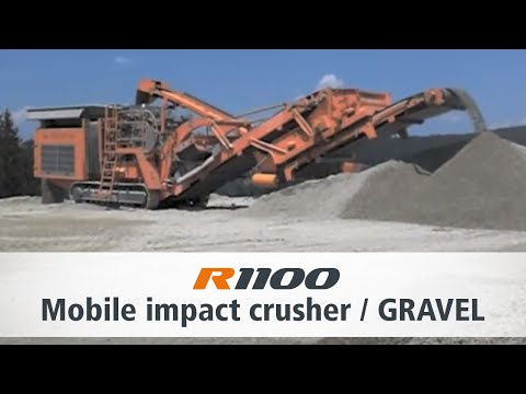 Rockster R1100 with Screening System - River Gravel