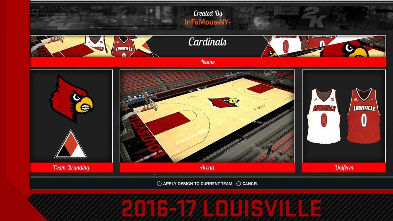premium selection 6a668 8d478 NBA 2K17 2016-17 Louisville Cardinals Jersey & Court Tutorial