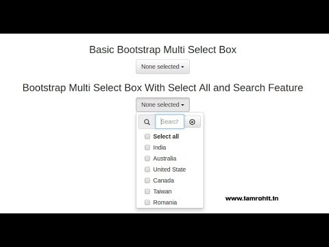 Create multiple select with select all and search feature using jquery  bootstrap multiselect plugin