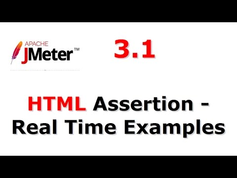 Jmeter Tutorials | HTML Assertion Real Time Examples