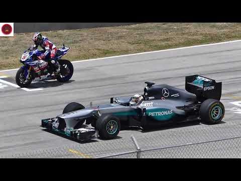 Car Racing LEWIS HAMILTON  F1 CAR vs YAMAHA R1M SUPERBIKE!!   - Car Racing 2017