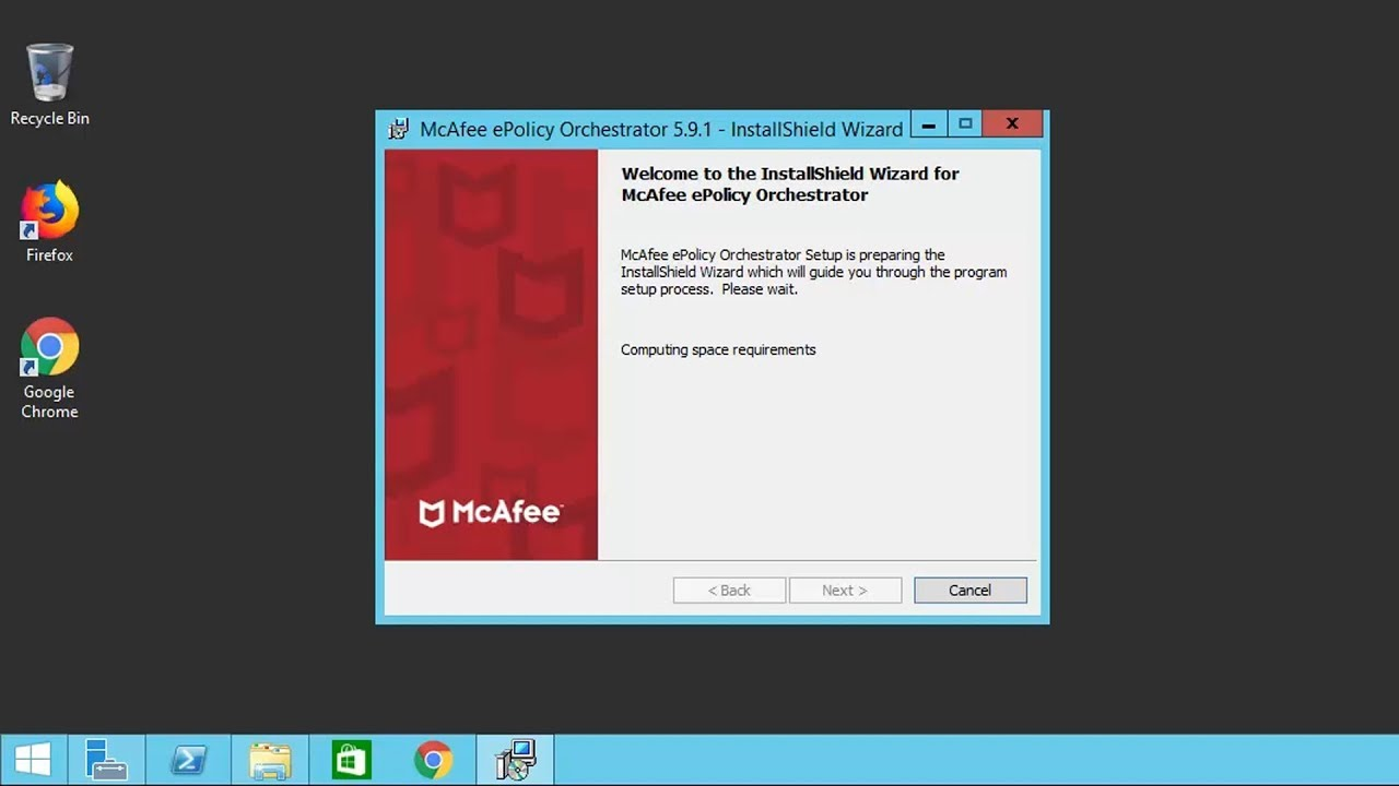 McAfee ePO v5 9 1 and SQL 2016 Installation on a Windows Server 2012 R2