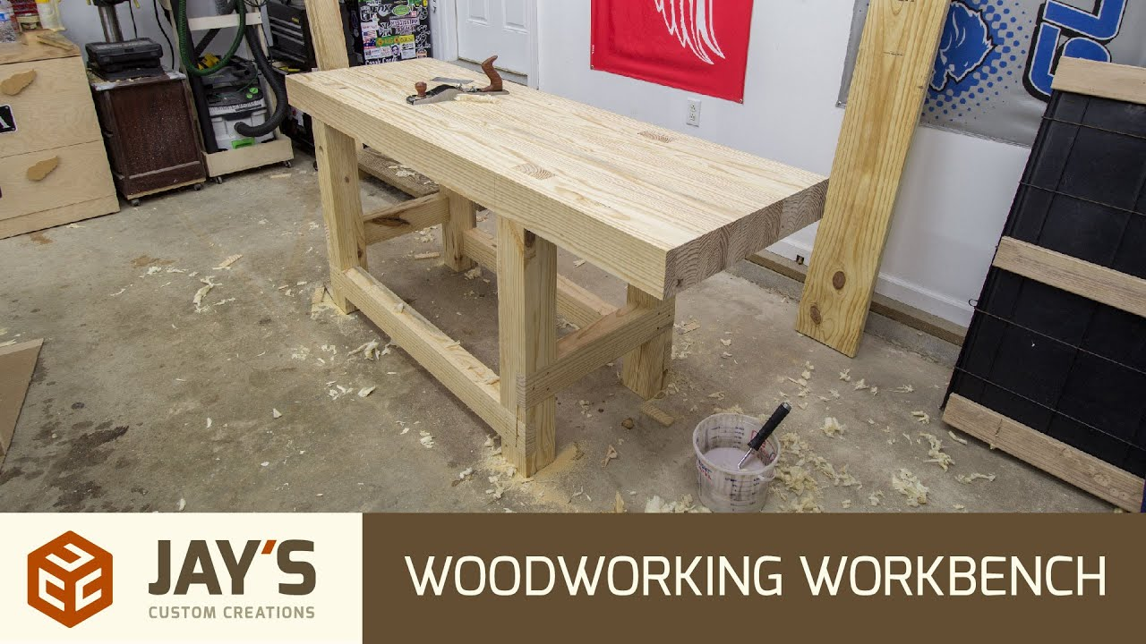 Build A Woodworking Workbench For 110 Usd