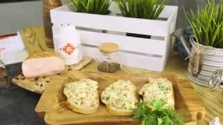 Рецепт гренок с мясным рулетом и сыром - Брестский мясокомбинат