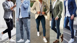 How to Dashing Dress up Blazer Jacket with Jeans Lookbook for Men's | Men's Stylish Fashion  2019