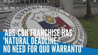 ABS-CBN franchise has 'natural deadline,' no need for quo warranto - Gatchalian