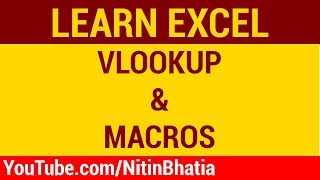 VLOOKUP and MACROS for Technical Analysis | HINDI