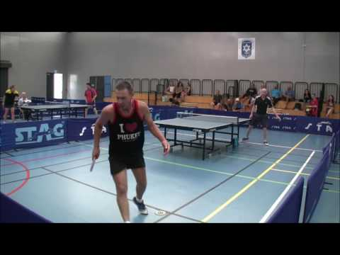 Perth Table Tennis Club Invitational Colin vs Craig Final