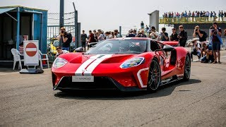 2018 Ford GT Heritage Edition w/ Titanium Akrapovic Exhaust Going FLATOUT on Track !