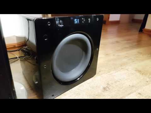 Bass Test on my Velodyne Subwoofer SPL-1000 Ultra 10 inch Drive  Optimum-10 High Performance Series