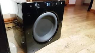 Bass Test on my Velodyne Subwoofer SPL-1000 Ultra 10 inch Drive  Optimum-10 High Performance Series