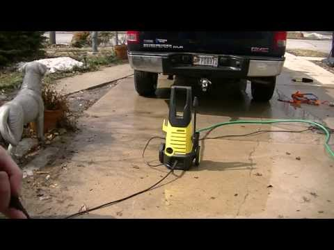 karcher pressure washer user manual