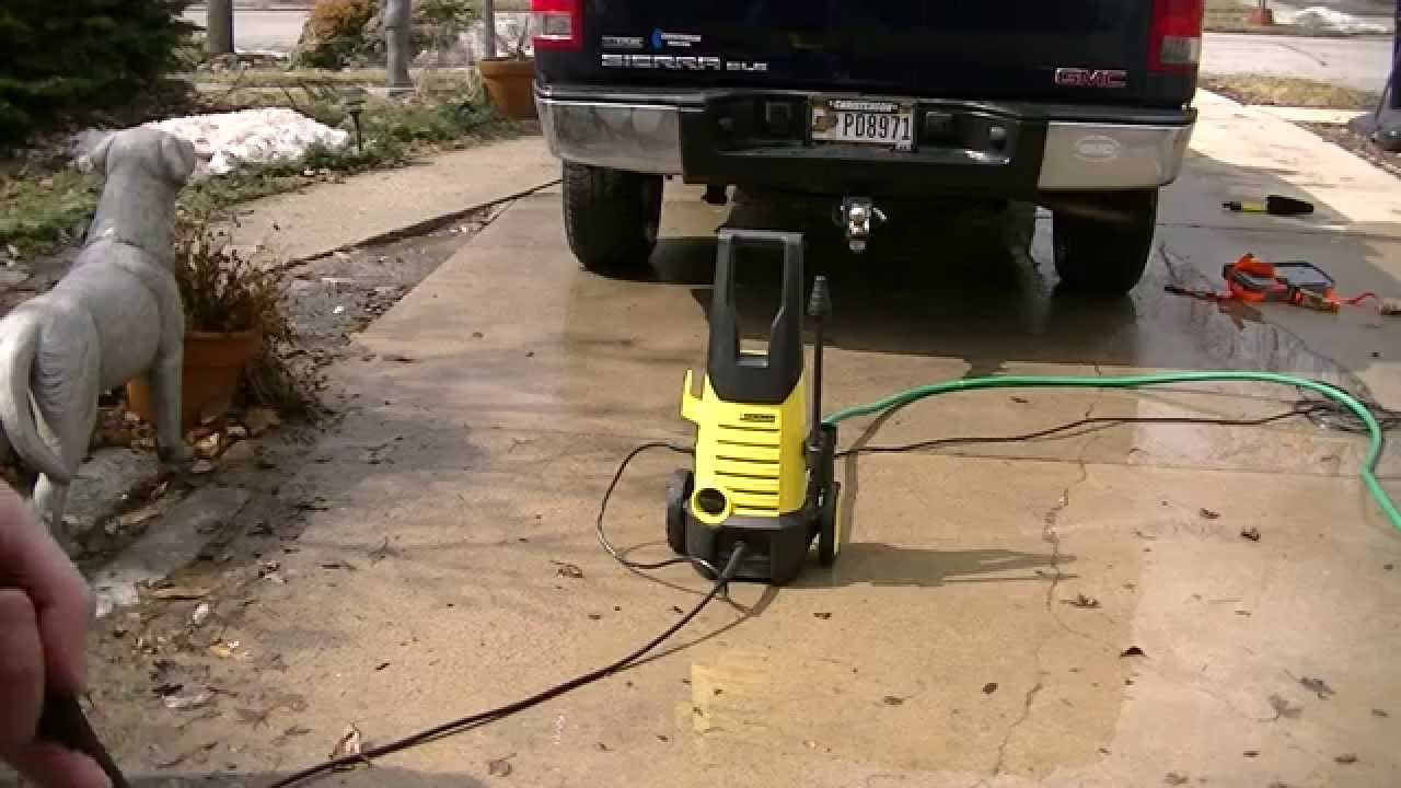 Karcher 1600 Psi Electric Pressure Washer Youtube