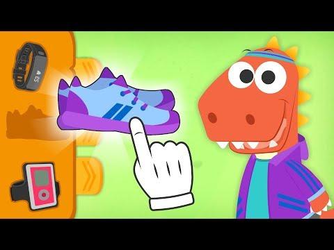 Aprende con Eddie a vestirte para ir a correr 🏃 Eddie el dinosaurio hace deporte