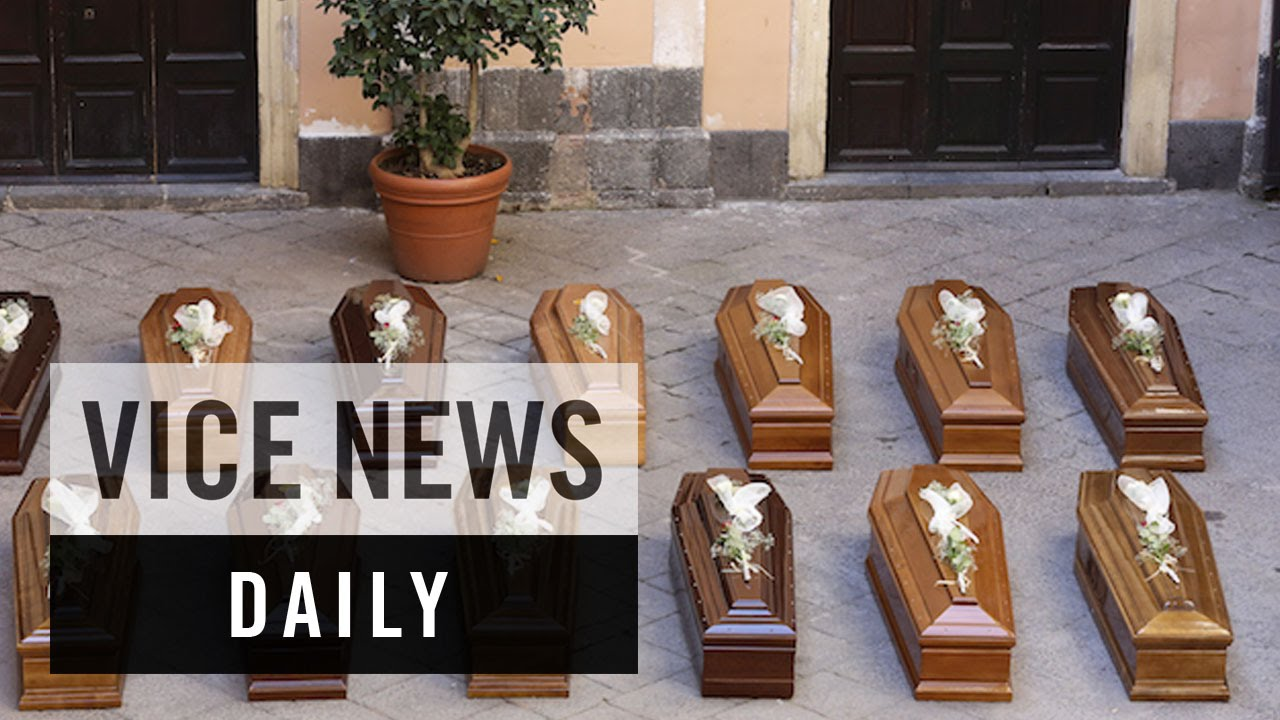 VICE News Daily: Italy Holds First Funeral for Shipwreck Victims