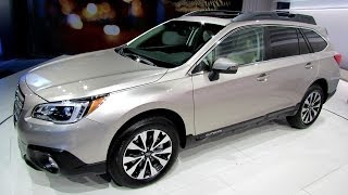 2015 Subaru Outback 3.6R AWD - Exterior and Interior Walkaround - Debut at 2014 New York Auto Show