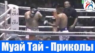 Тайский бокс бой. Приколы. Юмор