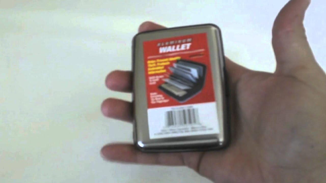 cd7c1e6e1 Billetera de aluminio contra robos de identidad y tarjetas de crédito  certificado RFID