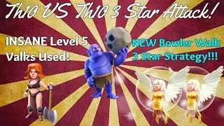 Clash of Clans New Troop Bowler 3 Star Strategy! | BOWLER WALK! | Th10 3 Star Replay!
