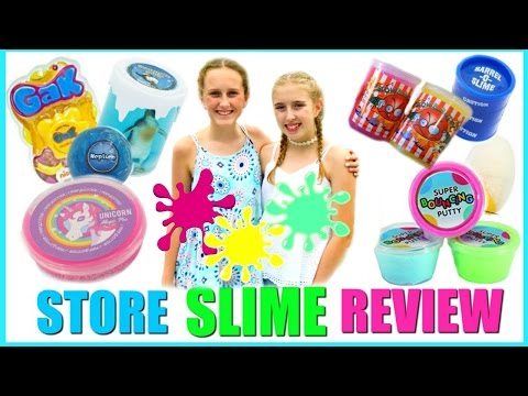 SLIME REVIEW - Testing Store Bought Slime Vs Homemade Slime and Putty - Millie and Chloe DIY
