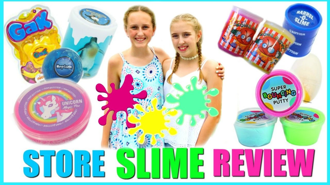 SLIME REVIEW - Testing Store Bought Slime Vs Homemade