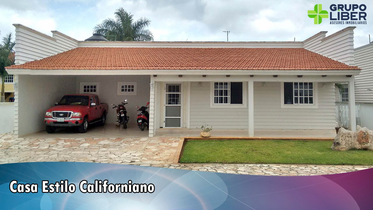 Casa estilo californiana youtube - Fotos de casas estilo californiano ...