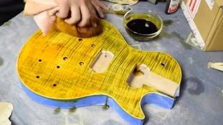 Slash AFD DIY Les Paul Kit - (Part 1: Sanding/Staining)