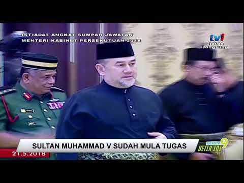 Sultan Muhammad V Sudah Mula Tugas