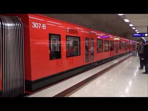 Helsingin uusi M300-metro(307)/Helsinki's new M300 metro(307), Full HD