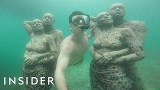 Swim Through An Underwater Human Sculpture Garden In Indonesia