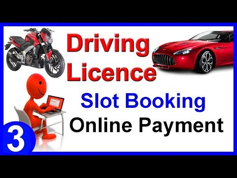 Online slot booking for driving test
