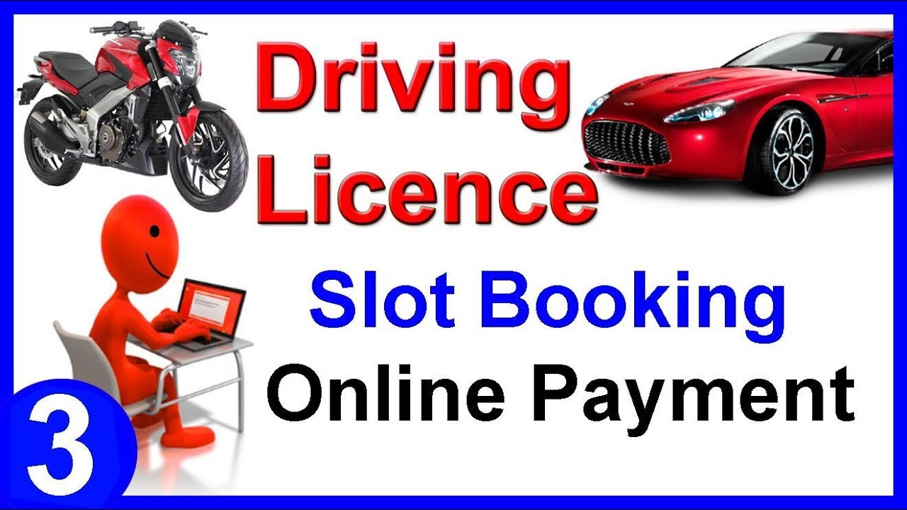 Online driving licence slot booking