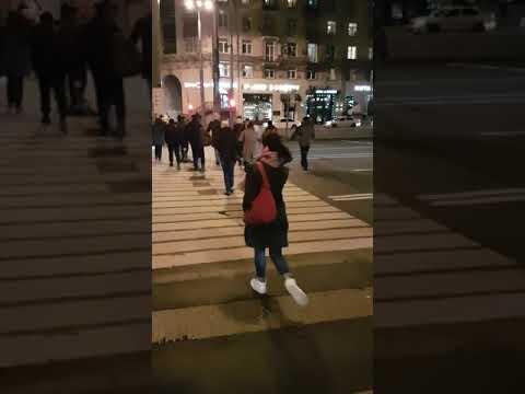 Ленинский проспект стоит пол часа, Москва 7 октября 2019 г.